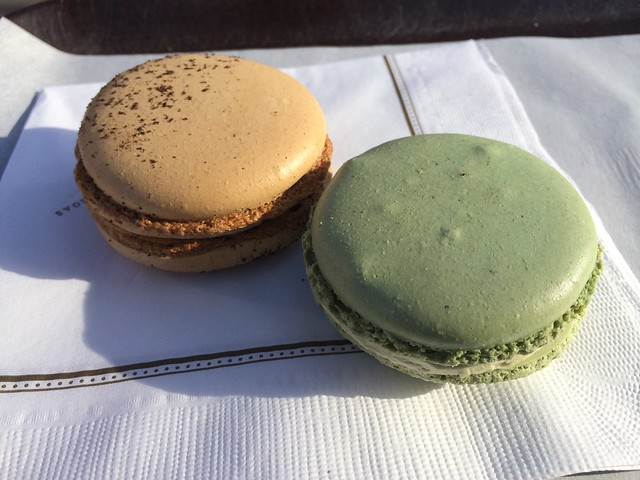 Espresso and pistachio macarons - Boucon Bakery