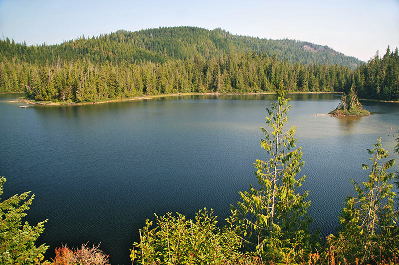 Alice Lake, Port Alice, Neroutsos Inlet, Vancouver Island, British Columbia, Canada