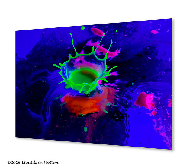 Neon Paint Collision #1978 | ©2014 - LiquidsinMotion.us.com