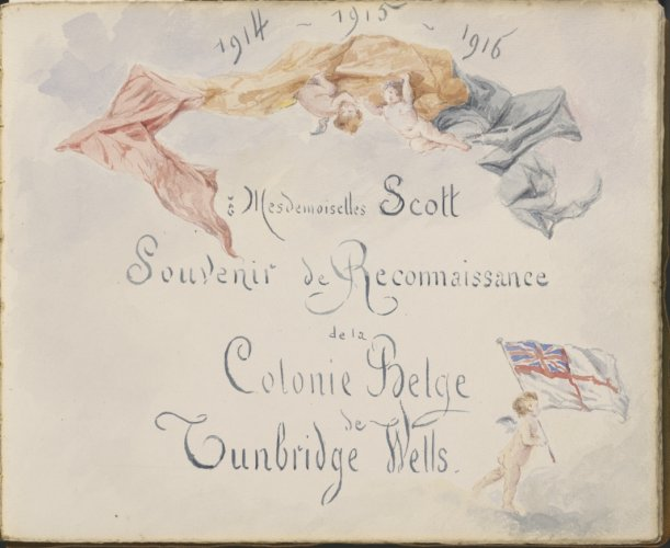 Illustrated presentation album from Belgian refugees, 1913-1929. Credit: LSE Library