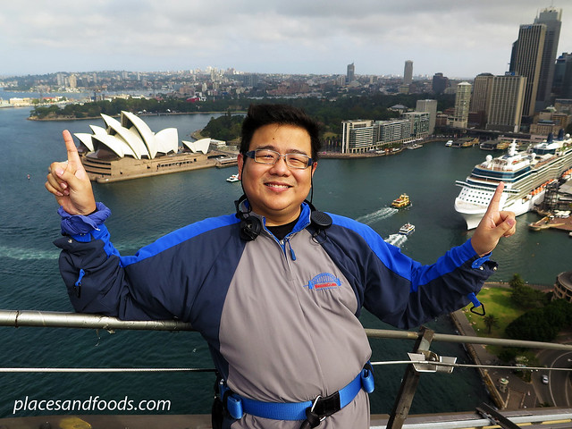 sydney harbour bridge climb placesandfoods opera house