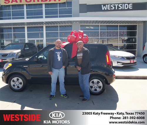 Happy Anniversary to Vicente De Jesus-Sanchez on your 2013 #Kia #Soul from Suliveras Wilfredo and everyone at Westside Kia! #Anniversary by Westside KIA