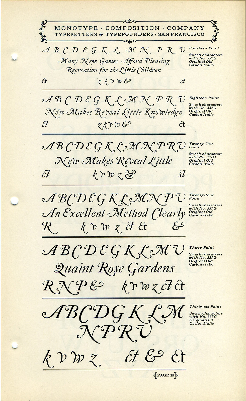 Caslon Swashes
