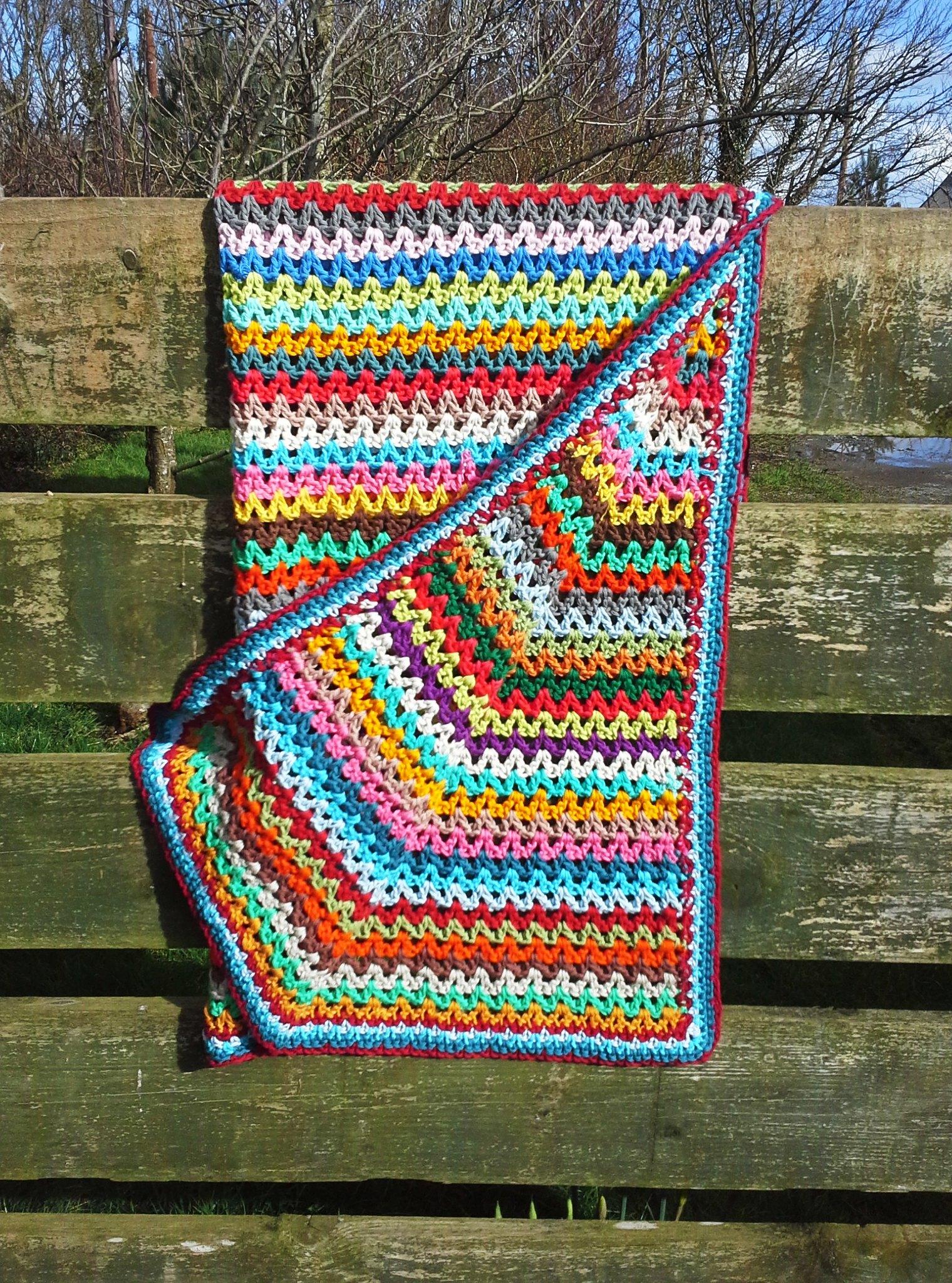 Crochet Scrap Yarn Blanket Explore Anniedesign S Photos