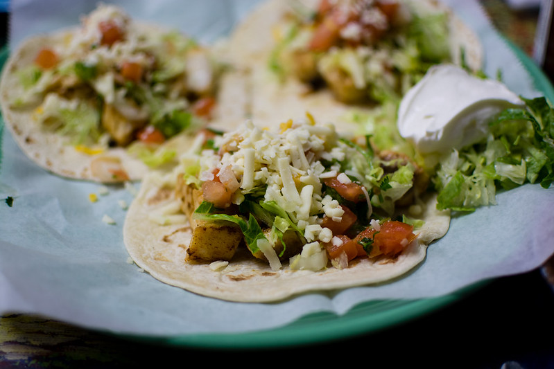 Fish Tacos at Las Palmas
