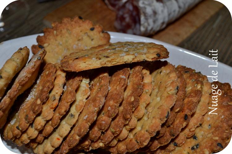 Crackers farine de quinoa et petites graines