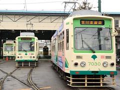 Trains at the Arakawa depot