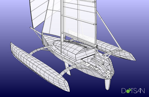 F-31 Trimaran, modeled in Rhino 3D