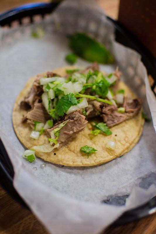 Goat taco at La Tejana Taqueria
