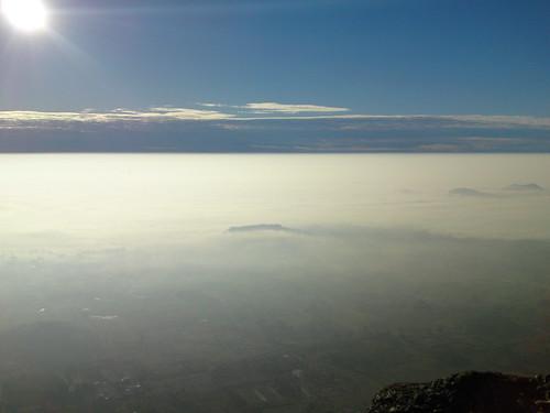 sky sun clouds sunrise bangalore mountainpeak nandihill