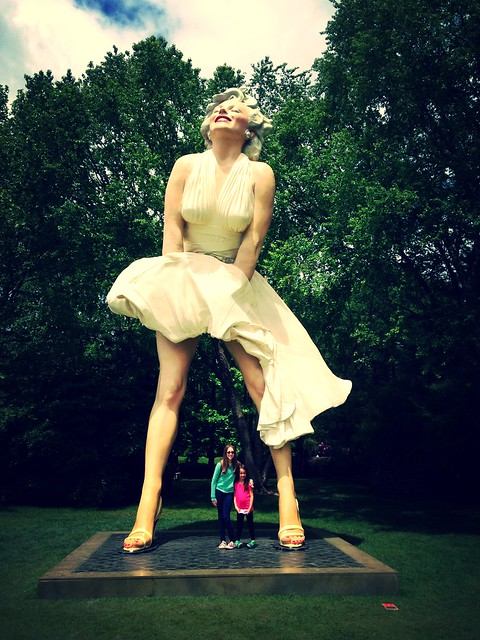 Marilyn statue at Grounds for Sculpture