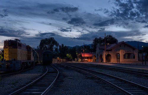 Blue Hour at the Railyard by Geoff Livingston