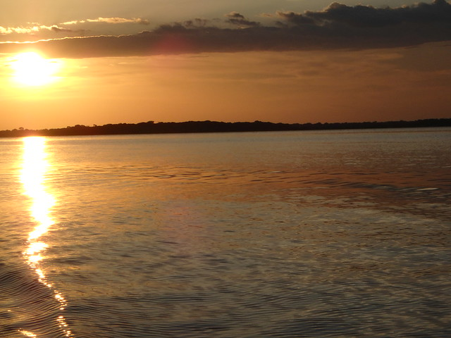 Sunset over the Rio Negro, Amazonas, Brazil 2015