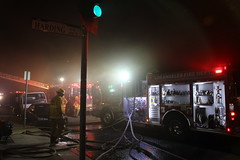 Commercial Fire Halted in San Fernando