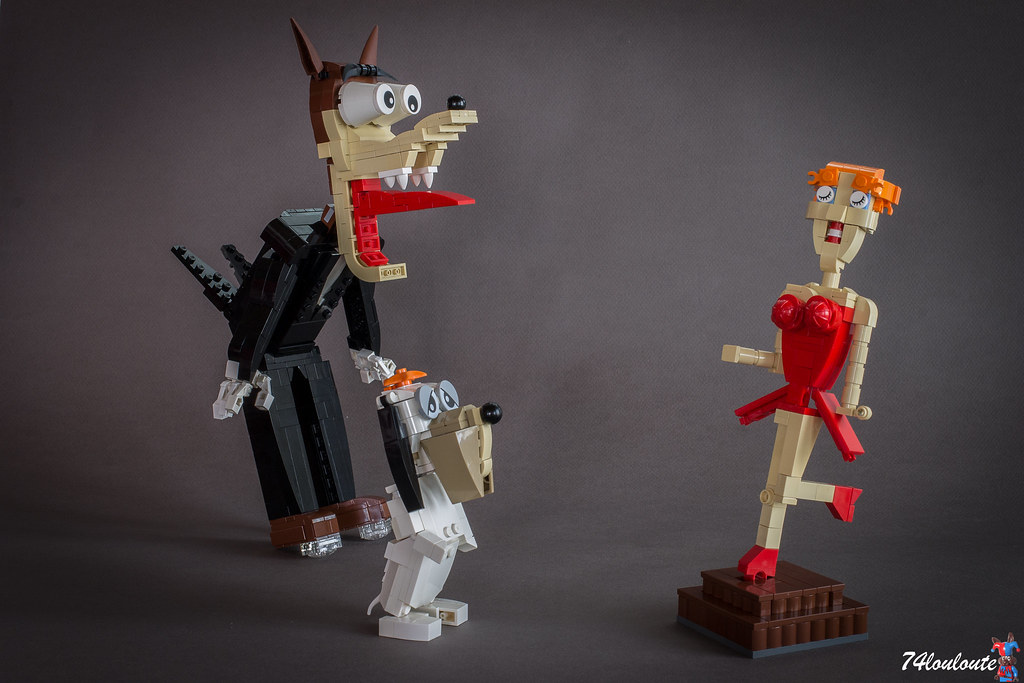 Droopy & The Wolf (custom built Lego model)