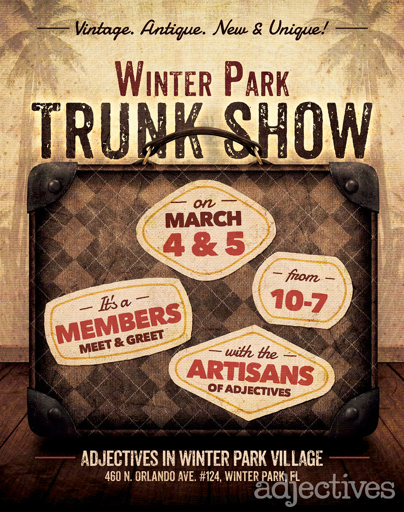Adjectives Trunk Show in Winter Park