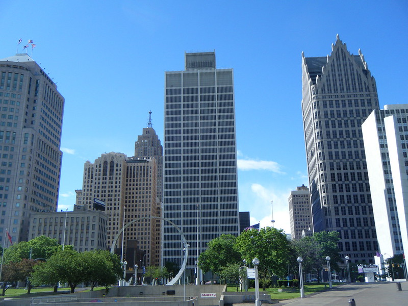 Hart Plaza and Jefferson Avenue