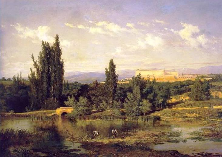 A orillas del río Manzanares. Casimiro Sainz (1853-1898). Óleo sobre lienzo