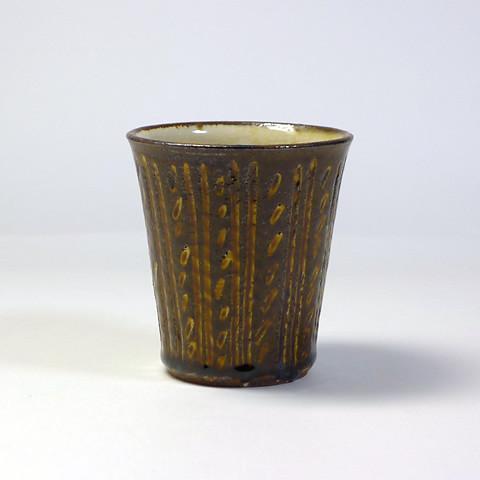 ふもと窯「フリーカップ/象嵌(飴)B」