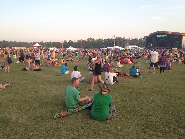 Bonnaroo 2013 - People waiting for next show @ What Stage