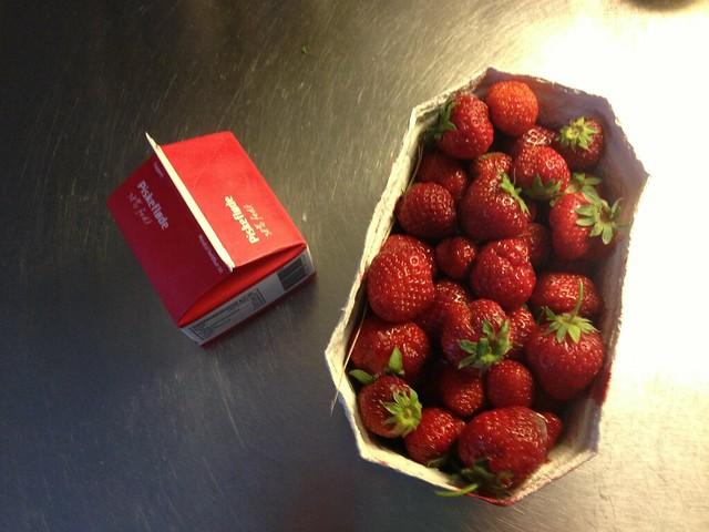 Fresh strawberries and cream. Yummy
