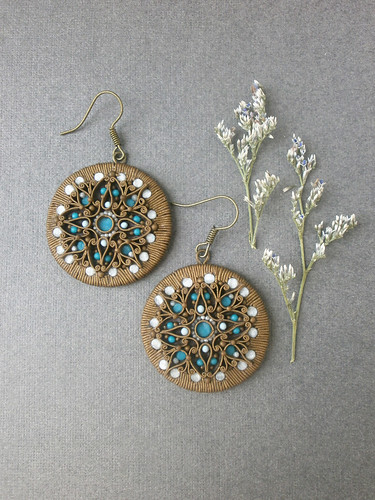 "Earrings ""Polar Star""."
