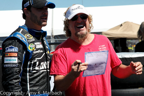 Sammy Hagar! And Jimmie Johnson