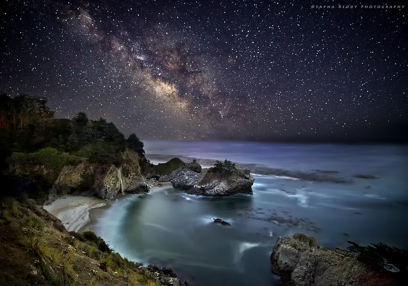 Milky way to McWay Falls (Explored)