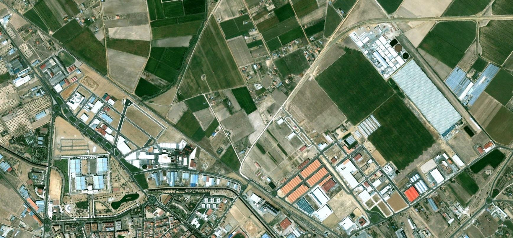 antes, urbanismo, foto aérea, desastre, urbanístico, planeamiento, urbano, construcción, Don Benito, Badajoz