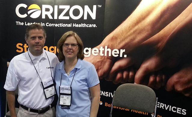Lauren Balmer Janet Vogelaar - Corizon attends summer conferences
