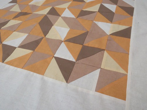 Toffee Shards - HST quilt top