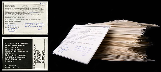 Petition Cards to Robert Muldoon