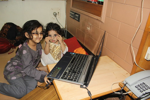 Marziya And Nerjis Two Cyber Kids by firoze shakir photographerno1