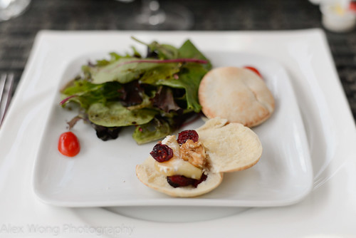 Pita with Brie, Dried Cranberries, & Walnuts