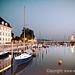 Der Lindauer Hafen nachts by Jürgen Wisckow Fotodesign