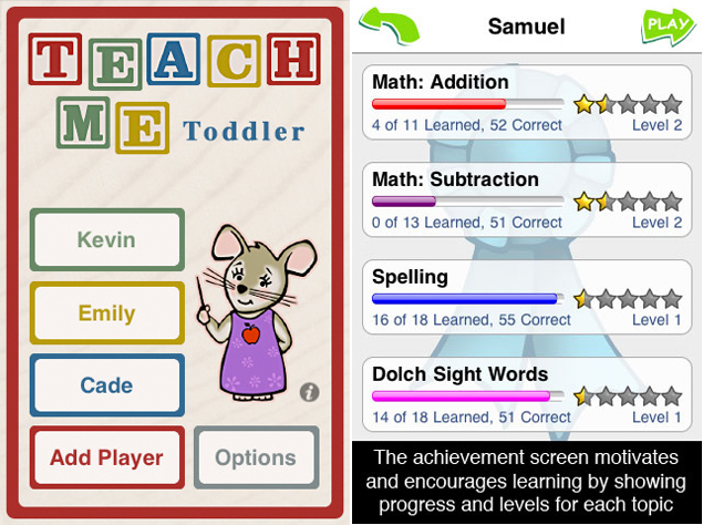 TeachMe - Toddler iPad App - Kaelah Bee
