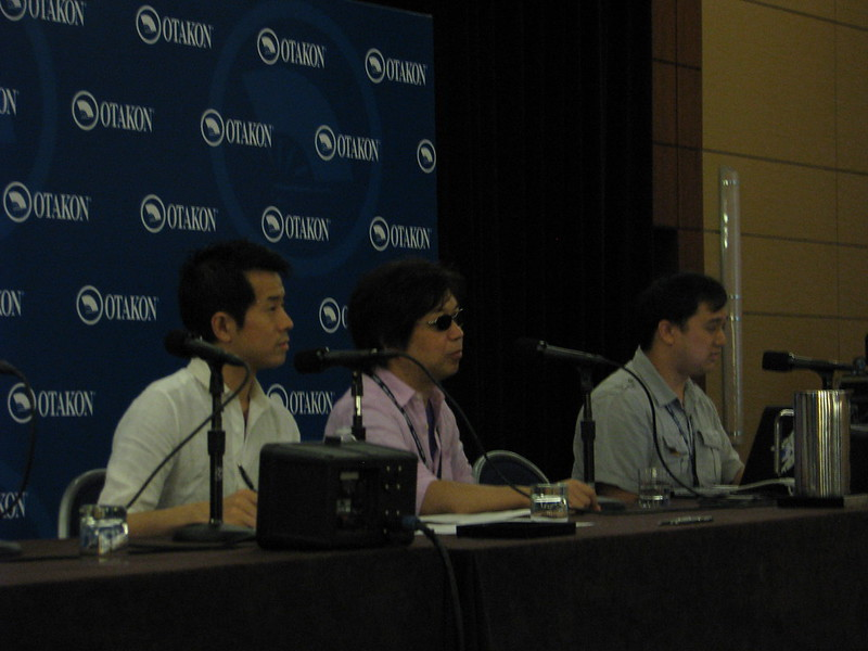 Shinichiro Watanabe during his first Q&A of Otakon 2013.