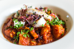 Slow cooked squid and chorizo stew