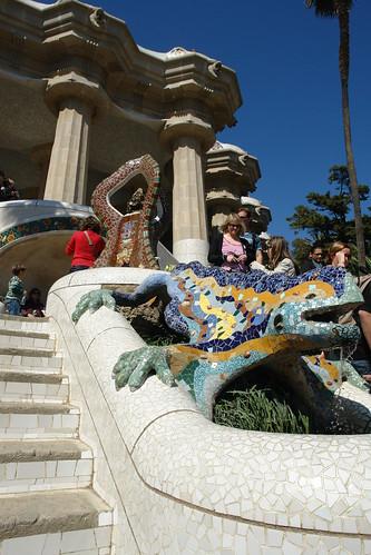 Salamandra o dragón de la escalinata Park Güell, el icono bonito de Barcelona - 9576350719 946711ef40 - Park Güell, el icono bonito de Barcelona