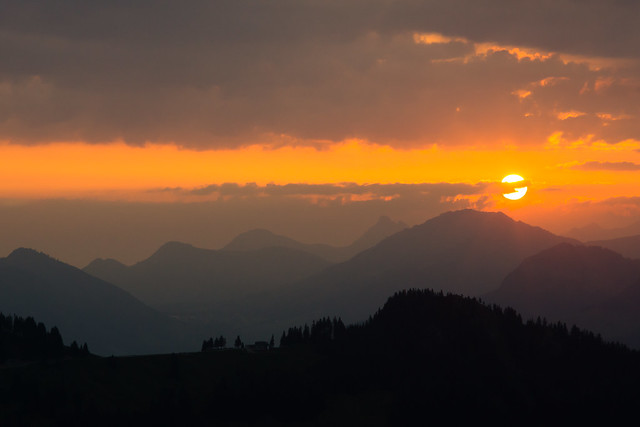 Sunrise from Riedberger Horn