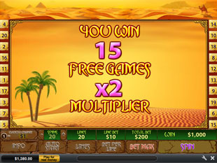 free Desert Treasure 2 Free Spins