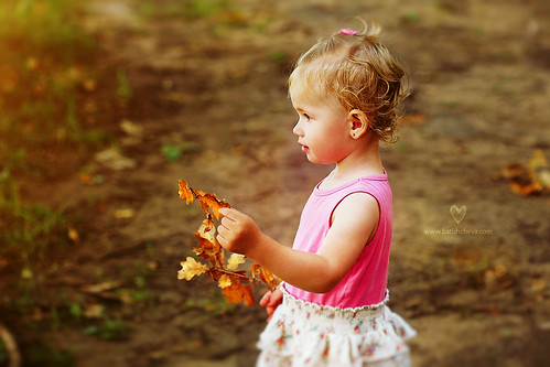 Fall and a Child by LikClick Photography