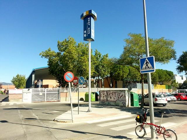 Final carril bici en Las Matas, Polideportivo de San José