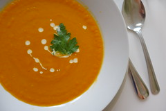 tomato soup, bisque, food, dish, soup,