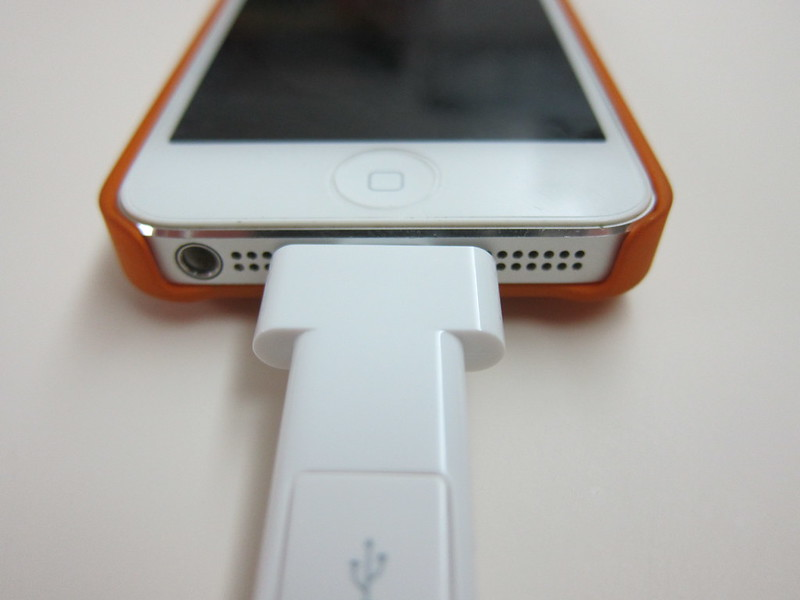 Innergie MagiCable Duo With Lightning - Plugged Into iPhone 5