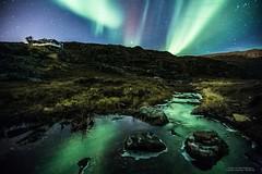 Aurora over Ravdnjejavri / Saragamvannet, Rypefjord (Explored!)