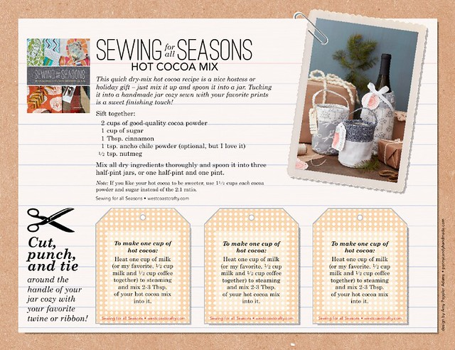 Sewing for all Seasons hot cocoa recipe
