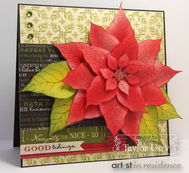 Sponged Poinsettia