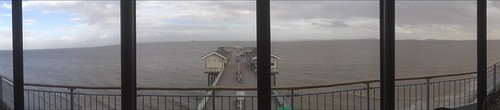 Panoramic of from the 'cockpit' of 617 Room, Penarth Pier Pavilion