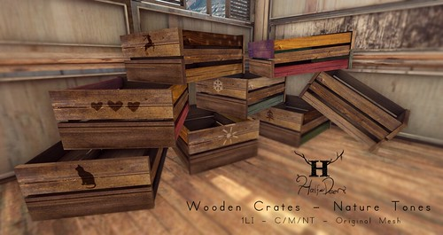 +Half-Deer+ Wooden Crates - Nature Tones by Half-Deer (Halogen Magic)